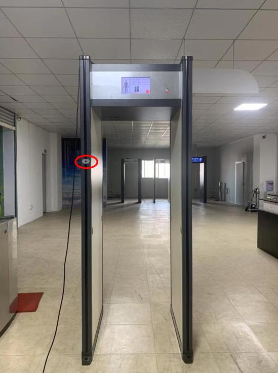 液晶式测温检测门